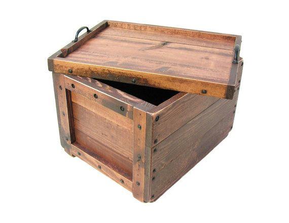Caisse en bois à couvercle, boite en bois avec couvercle, boîte à souvenirs, espoir poitrine, boîte à souvenirs, Wedding Card Box, Bin, fourre-tout, boîte de rangement en bois, tout