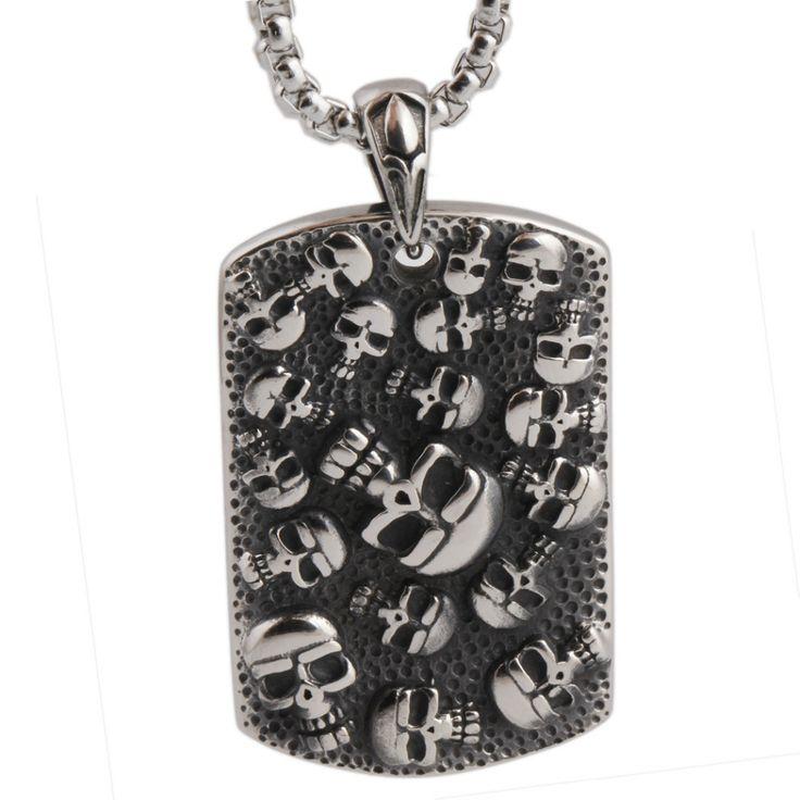 Stainless Steel Army Skull Pendants Necklace //Price: $11.69 & FREE Shipping //     #skull #skullinspiration #skullobsession #skulls