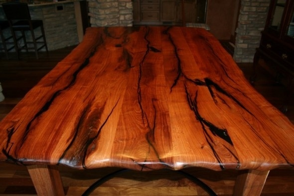 Hand Crafted Mesquite Dining Table By Porch Light Custom