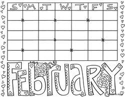 doodle art calendar templates