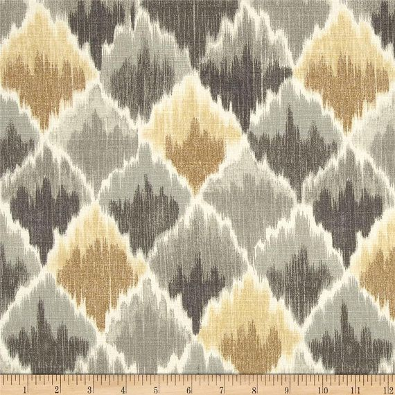 This listing is for one valance made from this Waverly baroque in shale fabric.. Valance will be 52 inches wide and 14 inches long. Will have a