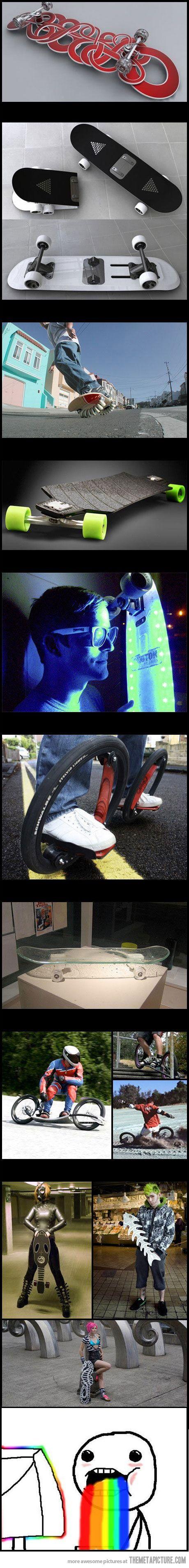Amazing skateboard designs!