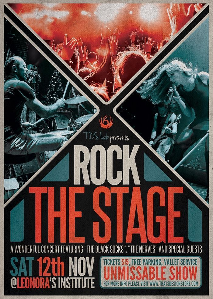 Rock The Stage Free Psd Flyer Template Freebies Layouts