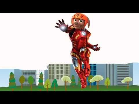 PAW Patrol Zuma vs Iron Man lifeguard coloring page / Cartoons  2017