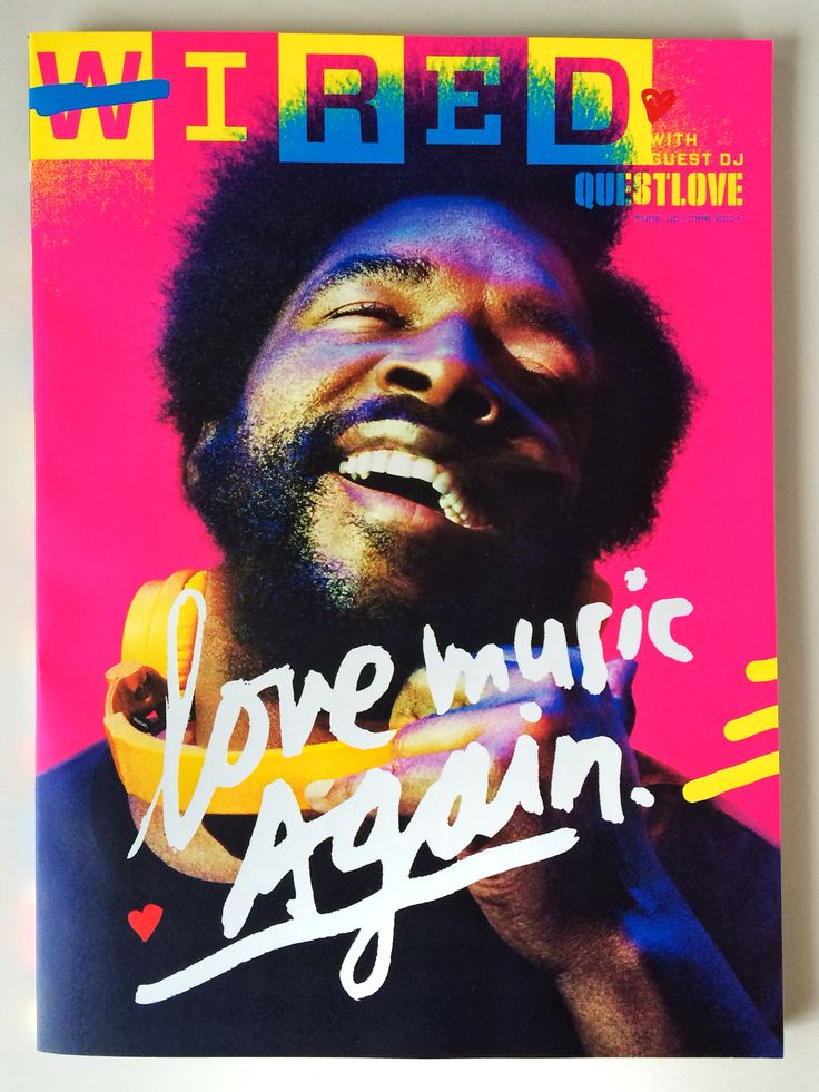 WIRED March 2014, with Guest DJ Questlove. Photo by Pari Dukovic, lettering by James Victore, design by Billy Sorrentino