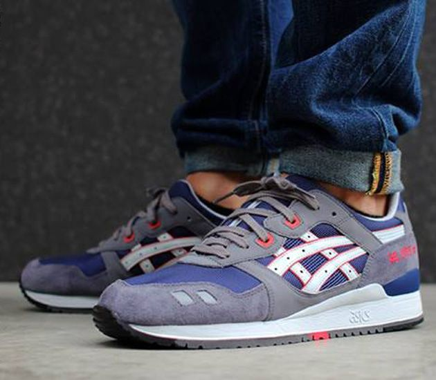 navy blue asics gel lyte iii