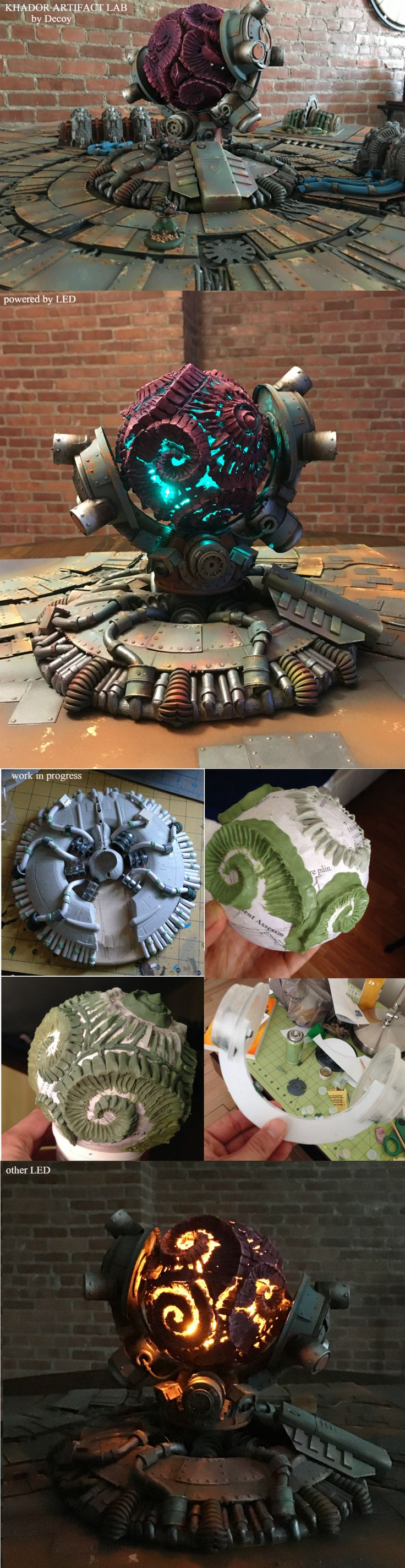 Chulthu artifact laboratory - steampunk terrain 4 by 4 feet - Forum - DakkaDakka | I see lead people.