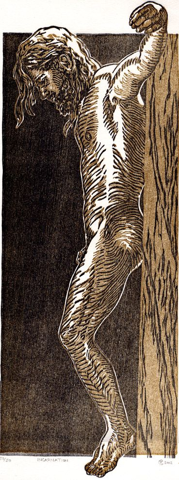 Incarnation Woodcut - Tyrus Clutter 2002