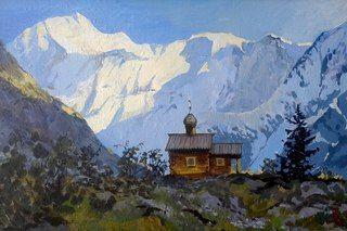 Пейзаж, Горный-Алтай, холст, акрил, продажа