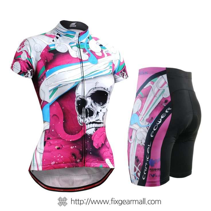 Fixgearmall - #FIXGEAR Women's #Cycling #Jersey & #Pants Set, model no CS-W19P2-SET, #Unique Design and Advanced Performance Fabric. ( #AeroFIX ) #MTB #Roadbike #Bicycle #Downhill #Bike #Extreme #Sportswear