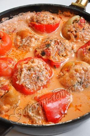 Russian stuffed peppers.
