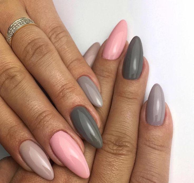 Caffe Latte, London Bridge, Porcelain Doll, Milkshake by Indigo Educator Anna Leśniewska, Ostrołęka #nails #nail #indigo #pastel #pastelnails #nailsart #indigonails #pinknails #greynails #pink #summernails