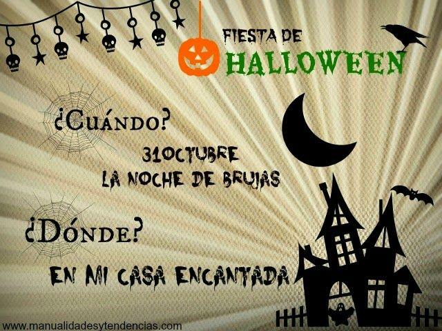 invitación para fiesta de Halloween imprimible y gratuita / free printable Halloween party invitation