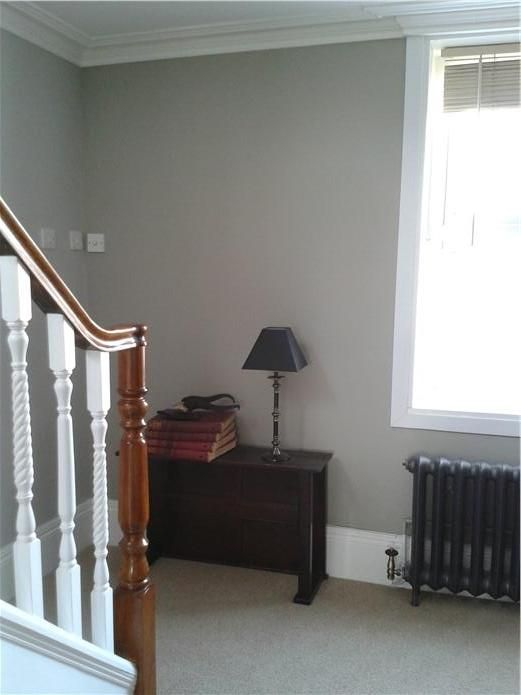 An inspirational image from Farrow and Ball Walls painted in Hardwick white, works a treat with the heavy cast radiators.