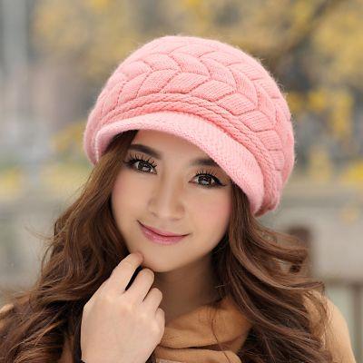 Cheap 2014 nuevas mujeres de moda gorro de invierno punto las mujeres tapas sombrero benn envío gratis, Compro Calidad Visores directamente de los surtidores de China: