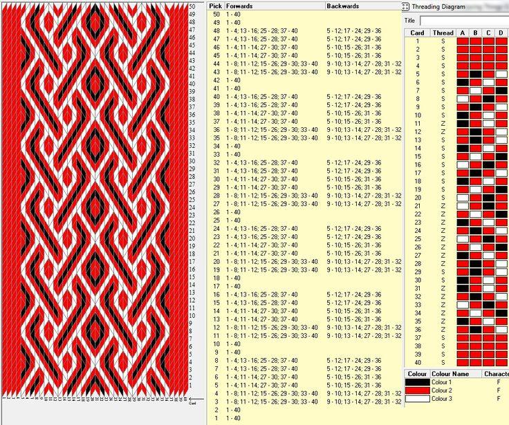 Crimson river, 40 tarjetas, 3 colores, repite cada 8 movimientos // sed_146༺❁