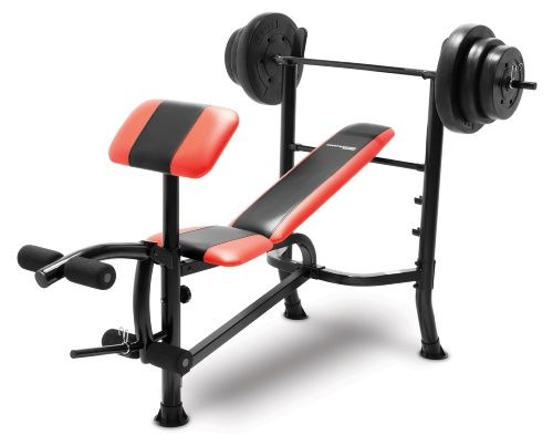 competitor pro standard bench with 100 lb weight set