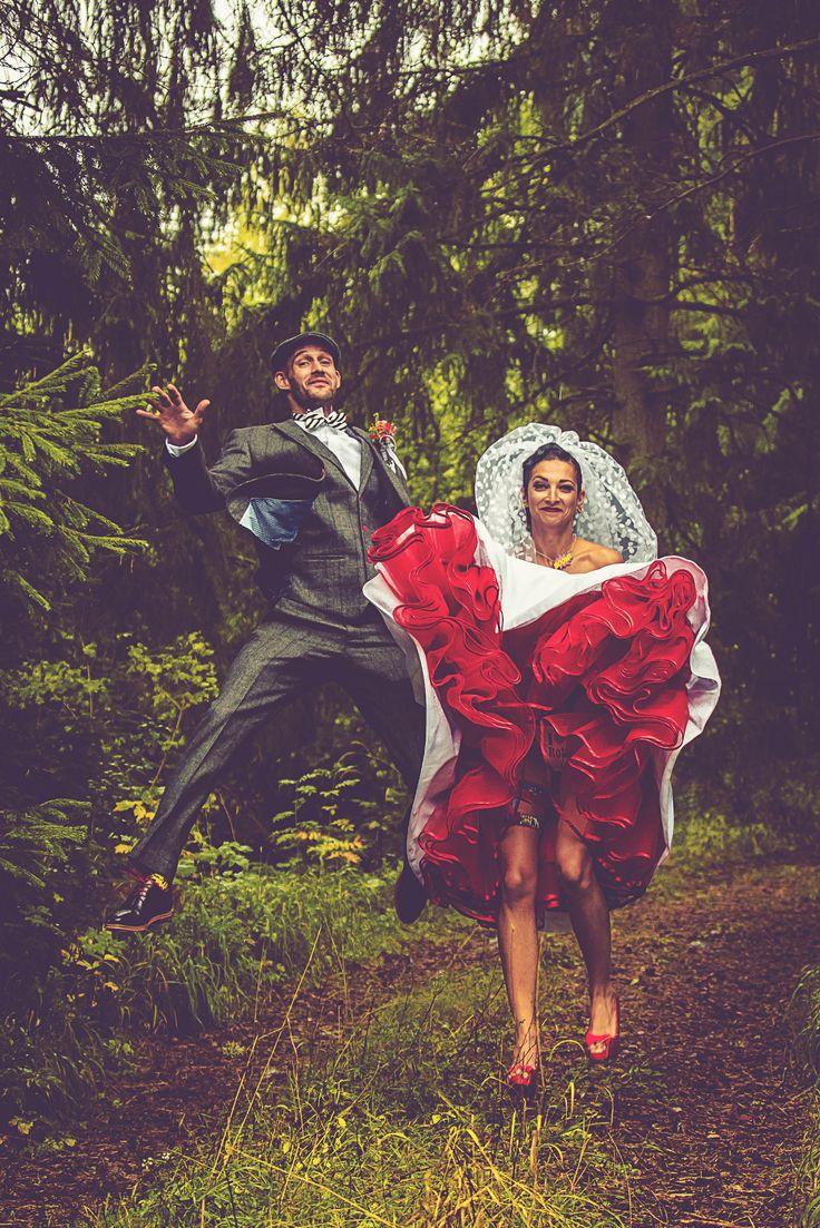 The Wedding Journal | Real Weddings; Miroslava & Rob's Retro Comic Themed Wedding