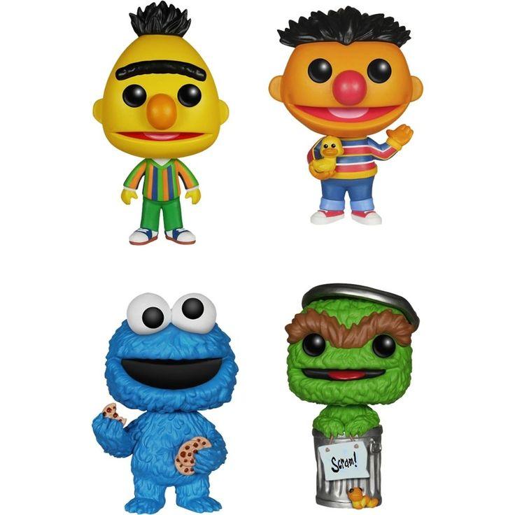 Funko - Sesame Street Pop! TV Vinyl Collectors Set: Bert, Ernie, Cookie Monster, Oscar the Grouch - Multi, G847944000846