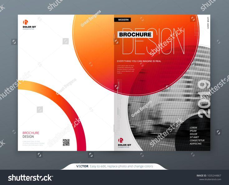 Brochure template layout design. Corporate business annual report, catalog, magazine, brochure, flyer mockup. Creative modern bright concept circle round shape annual#business#catalog#report
