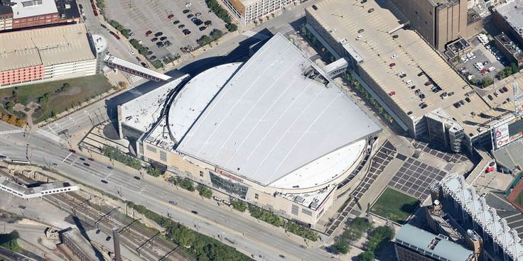 Quicken Loans Arena - Cleveland Cavaliers - Aerial Views of NBA Arenas