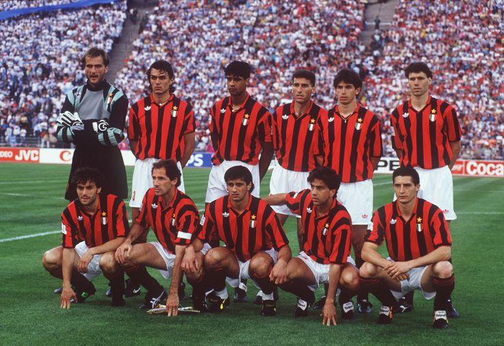 Rossi, Maldini, Rijkaard, Tassotti, Albertini, Van Basten; Donadoni, Baresi, Lentini, Costacurta, Massaro