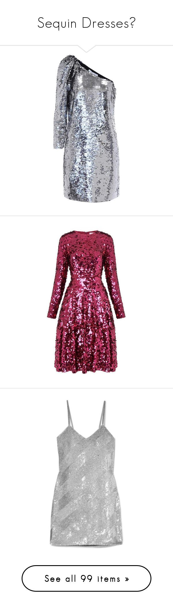 """""""Sequin Dresses💎"""" by moon-crystal-wolf ❤ liked on Polyvore featuring dresses, silver, embellished short dress, embelished dress, short dresses, embellished cocktail dresses, silver embellished dress, long sleeve cocktail dresses, sequin cocktail dresses and purple long sleeve dress"""