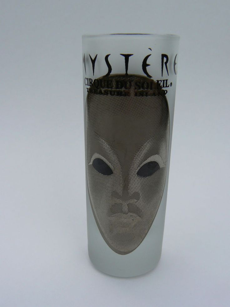Cirque du Soleil Mystere Treasure Island Frosted Glass Shot Glass 2.5 oz  | eBay