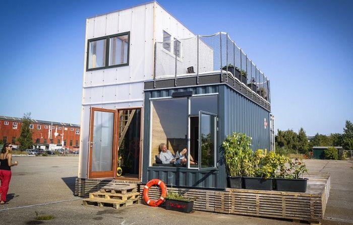 Бюджетный дом из контейнеров, который можно установить на любом участке