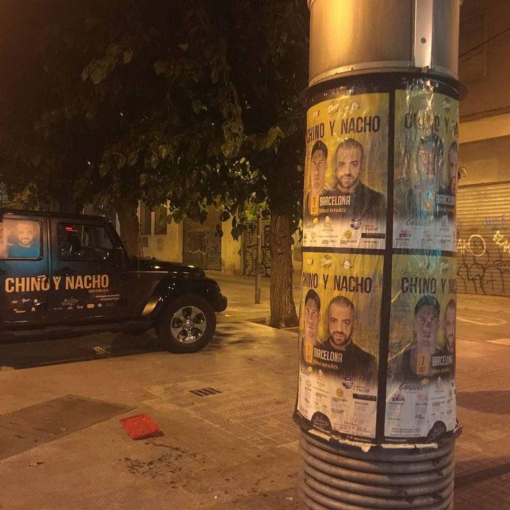 Ya se siente en Barcelona la invasión de chino y Nacho... Este viernes 7 será el super concierto en el pueblo español.