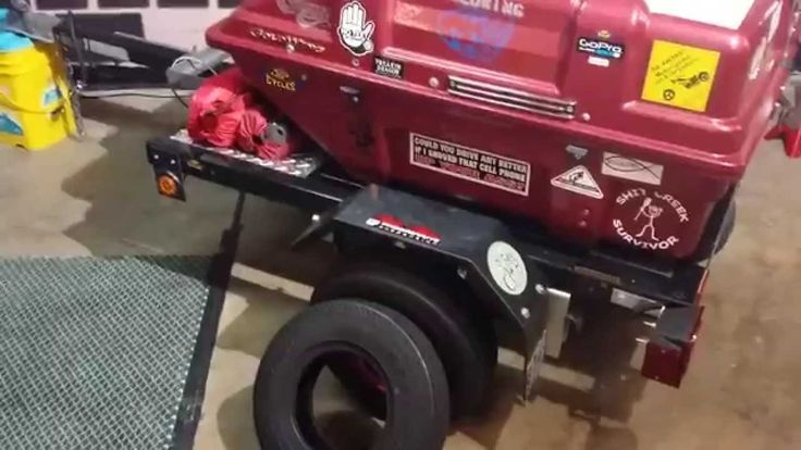 Harbor Freight pull behind motorcycle trailer modification