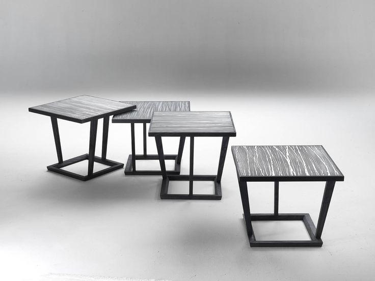 tavolini in legno e metallo