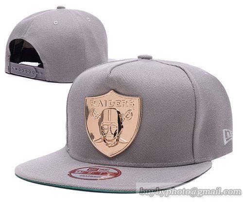 Oakland Raiders Snapback Hats Gray 002