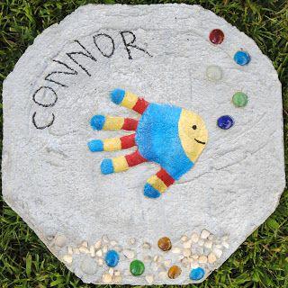 Handprint Stepping Stone - Happy-Go-Lucky