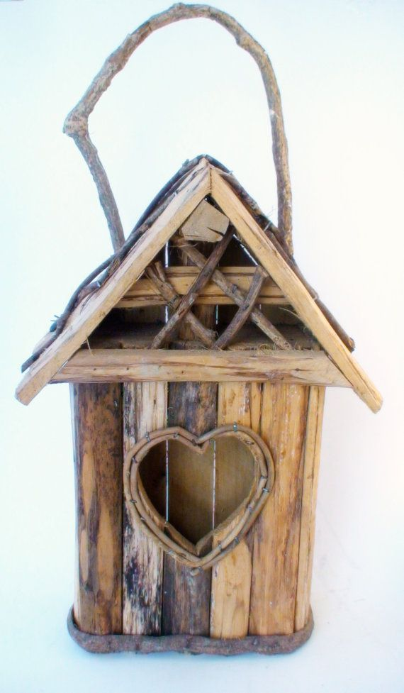 Love Bird House  rustic and wooden with a by BlackberryMarket, $22.00