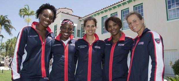 Venus Williams, Sloane Stephens, Serena Williams e Varvara Lepchenko Fed Cup (Foto: Divulgação / ITF)