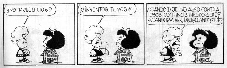 Resultado de imagen de prejuicios mafalda