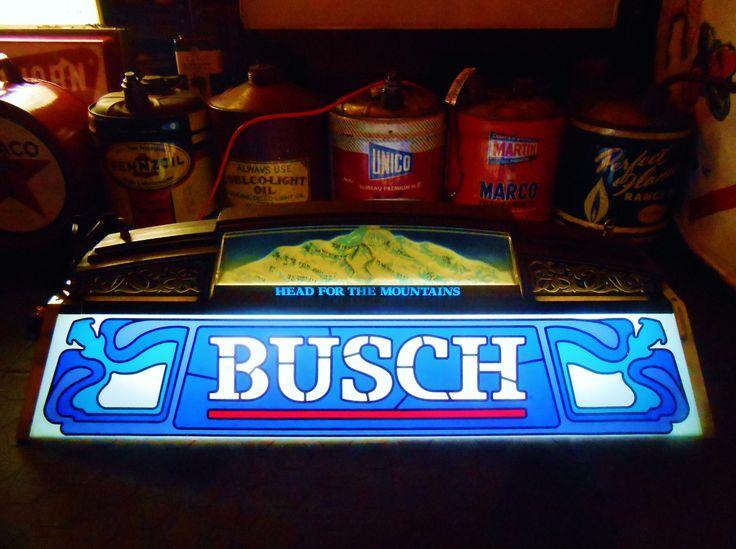 Rare Vintage Busch Beer Pool Table Light Circa 1980 S