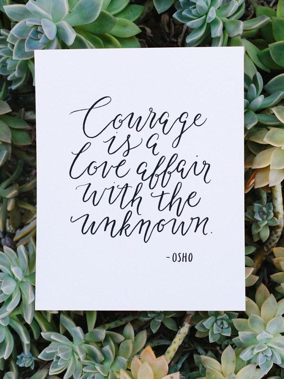 Have courage. Have love. #quote #inspiration