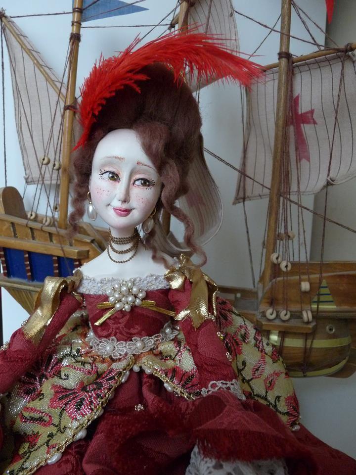 """Handmade doll by VAFA """"Venice"""""""