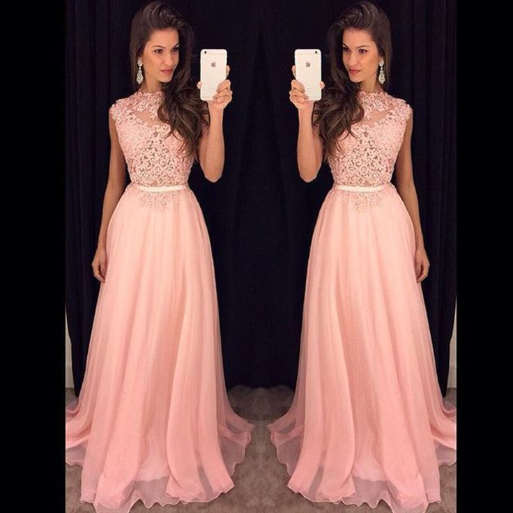New Arrival Lace Top Long Prom Dresses Floor