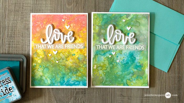 Tim Holtz Distress Oxide Inks, Neat and Tangled Love Notes Dies and Neat and Tangled Love Notes Stamp Set: Introduction to Distress Oxide Inks (+ Many Cards) Jennifer McGuire Ink