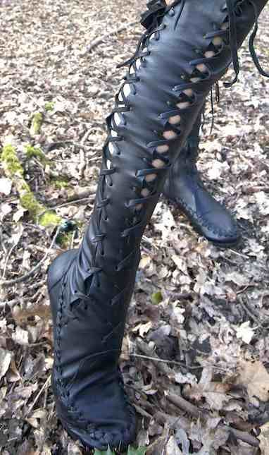 Gipsy Dharma black over the knee high boots for women (Vedette needs these)