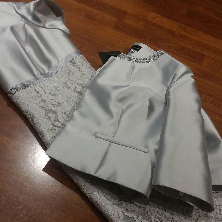 #tubino in #pizzo con #giacca #seta Tg #forti #valeria #abbigliamento