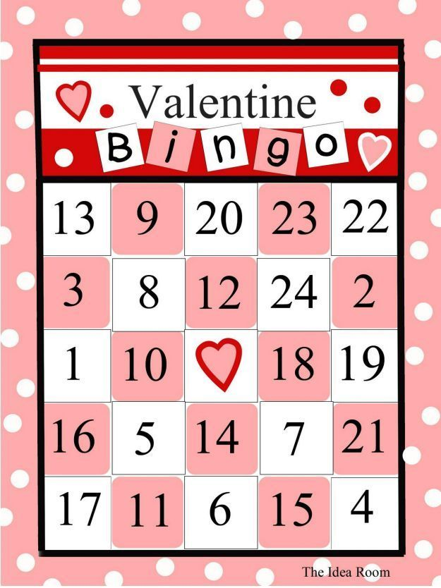 Cute, Printable (And Free) Valentine's Day Bingo Cards for All Ages: The Idea Rooms Free Valentine Bingo Cards