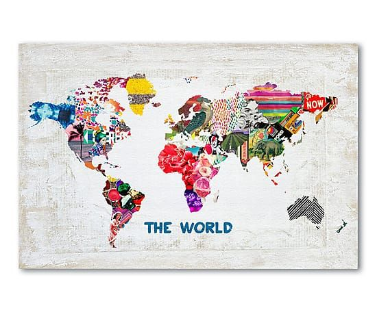 Impresión digital sobre lona World - 60x40cm