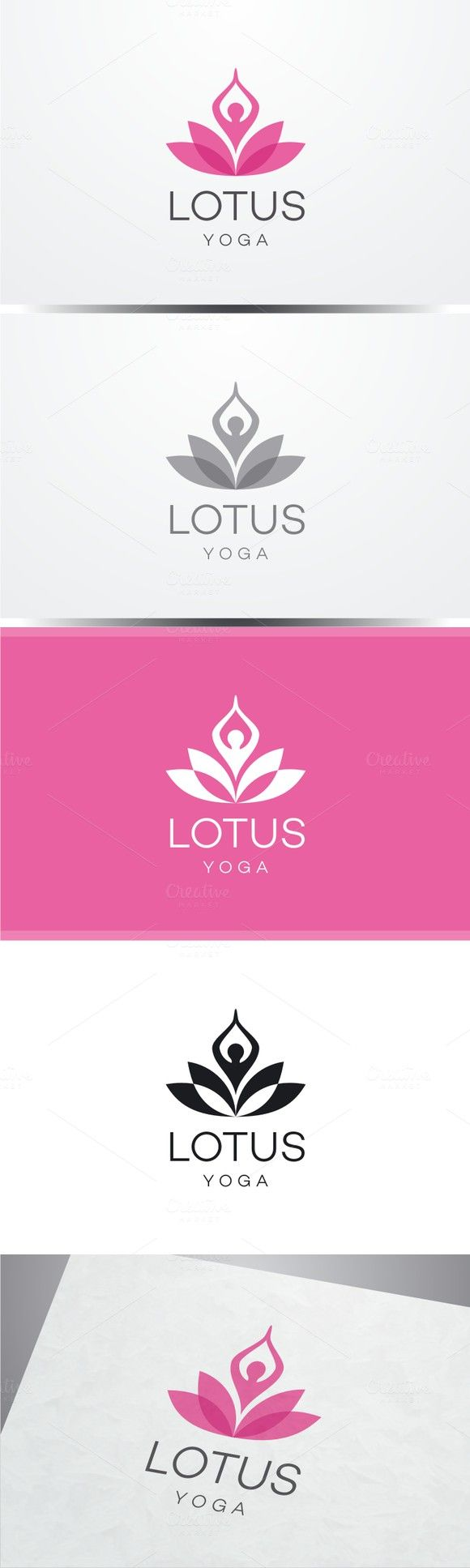 Lotus Yoga Logo. Human Icons. $30.00