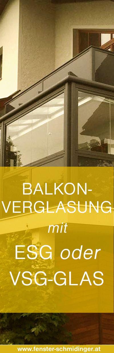 #Balkonverglasung mit #ESG oder #VSG #Glas! Wir erklären den Unterschied!