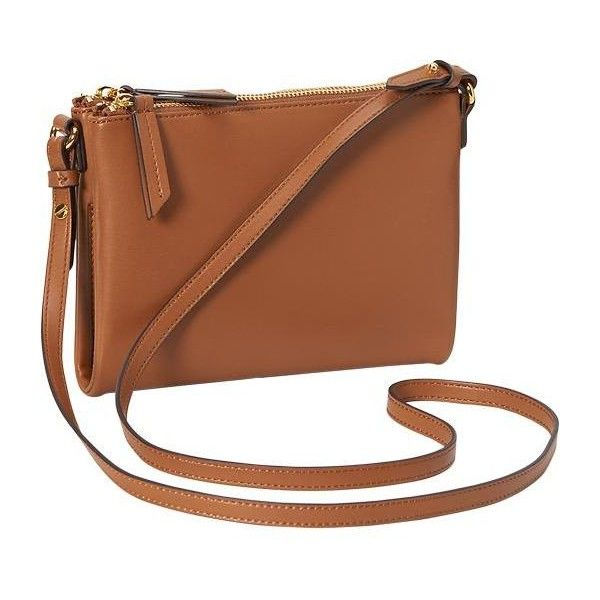 Old Navy Womens Faux Leather Crossbody Bag ($16) ❤ liked on Polyvore featuring bags, handbags, shoulder bags, brown, vegan handbags, crossbody shoulder bags, old navy, brown purse and shoulder strap handbags
