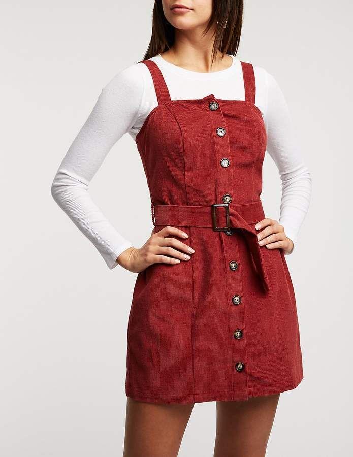 45110a57e5 Charlotte Russe Corduroy Button Up Dress #Russe#Charlotte#Corduroy ...